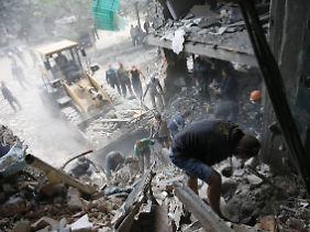Zerstörungen in der Ostukraine.