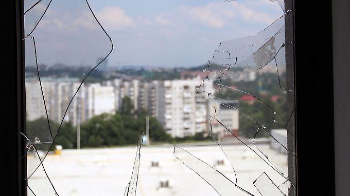 In Zentrum von Donezk kommt es vermehrt zu Häuserkämpfen.