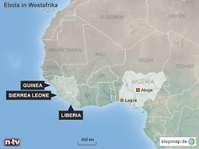 Mehrere Landesgrenzen übersprungen: Mit Lagos erreicht das Ebola-Virus eine Metropole mit neun Millionenn Einwohnern.