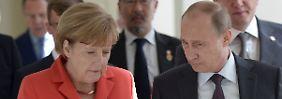 Deal zur Lösung der Ukraine-Krise?: Merkel und Putin sollen Geheimplan haben