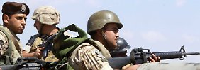 Libanesische Soldaten im Einsatz gegen Dschihadisten.