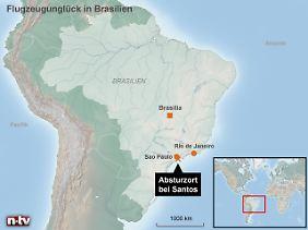 Riesiges Land: Im Flächenstaat Brasilien findet der Wahlkampf auch im Flugzeug statt.