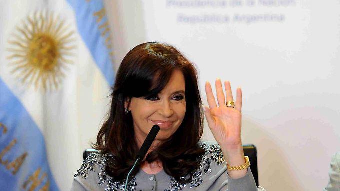 Will sich nicht geschlagen geben: Argentiniens Präsidentin  Cristina Fernández de Kircher.