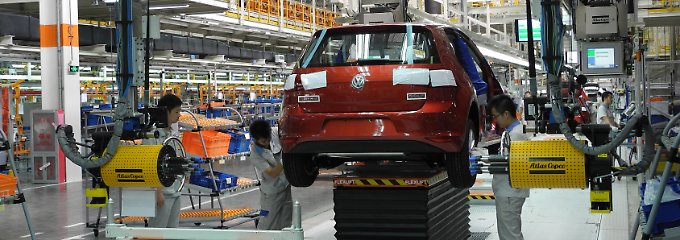 Golf-Produktion im VW-Werk in Foshan.