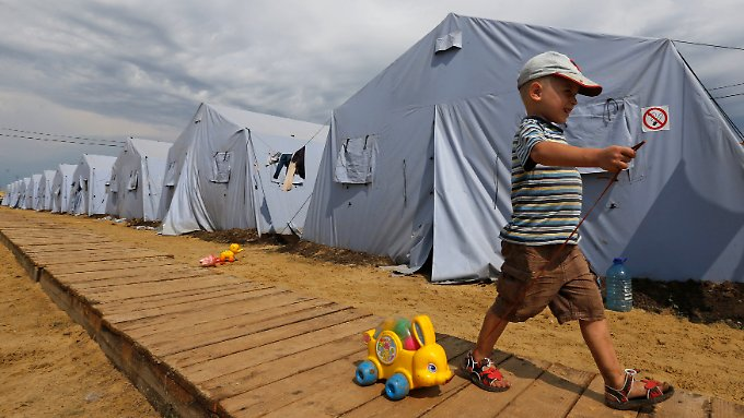 260.000 Ukrainer sind innerhalb der Ukraine auf der Flucht oder nach Russland geflohen.