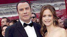 Sehen wieder glücklicheren Zeiten entgegen: John Travolta und Kelly Preston.