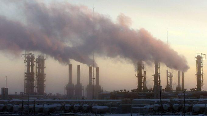 Eine Öl- und Gasanlage im russischen Novi Urengoj.