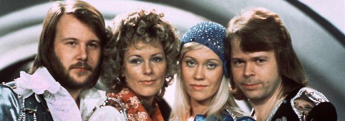 Benny Andersson, Anni-Frid Lyngstad, Agnetha Fältskog und Björn Ulvaeus (Archivbild von 1974).