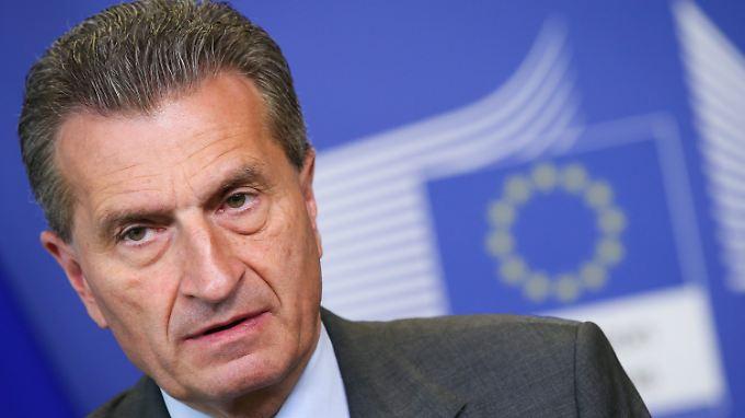EU-Kommissar Oettinger soll sich um die digitale Wirtschaft kümmern.