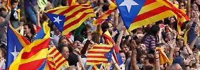 Begeisterte katalanische Separatisten beim letztjährigen Nationalfeiertag.