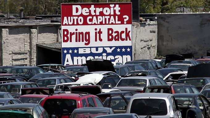 Mit dem Niedergang der US-Automobilindustrie geriet auch Detroit in Schwierigkeiten.