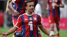 In Pose: Mario Götze, FC Bayern München.