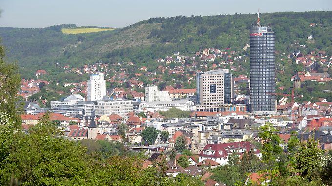 Stadtzentrum von Jena: Die thüringische Großstadt verzeichnete einen der bundesweit größten Lohnanstiege seit 1993.