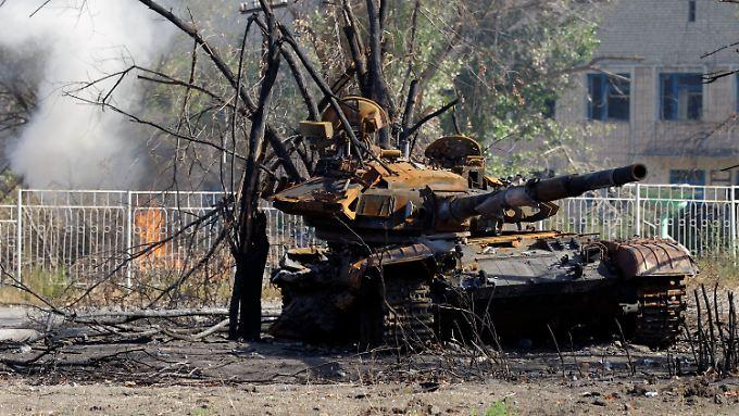 Nach monatelangen Kämpfen sind viele Orte in der Ostukraine zerstört.