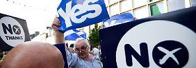 Abspaltung von Großbritannien?: Ausgang des schottischen Referendums ist völlig offen