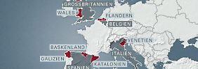 Schotten sind nicht allein: Wo in Europa Unabhängigkeit gefordert wird