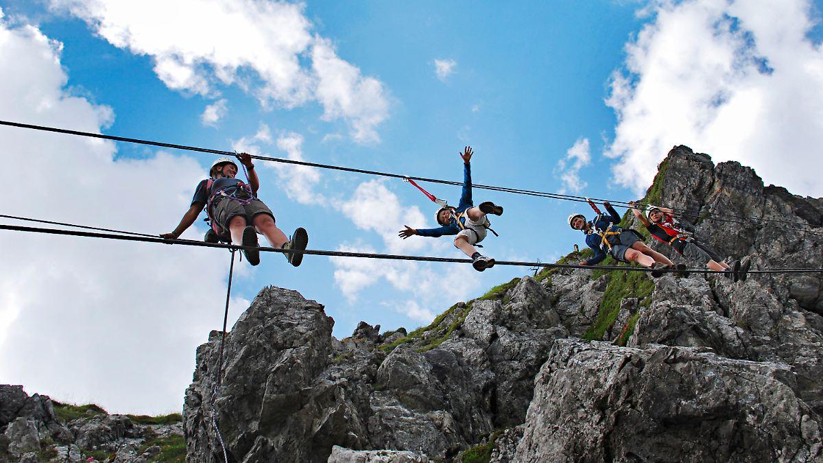 Hindelanger Klettersteig Unfall : Gesicherter nervenkitzel: klettersteige immer beliebter n tv.de