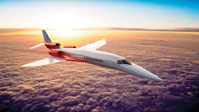 Entwurf für das Modell Aerion AS 2 - es soll die Strecke Chicago-Frankfurt in knapp 5 Stunden zurücklegen können.