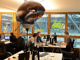 Rocket-Internet-Mitarbeiter am Berliner Firmensitz (Archivbild).