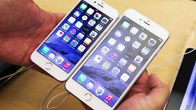Schmucke Geräte, aber leider teuer: Das iPhone 6 und das iPhone 6 Plus.