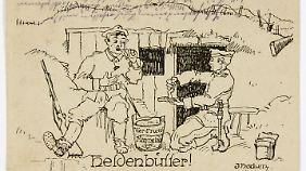 Bernhard von Oberg stellte die historische Feldpostkarte zur Verfügung.