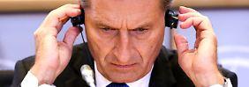 """EU-Parlament testet neue Kommission: Oettingers strammer Marsch nach """"Neuland"""""""