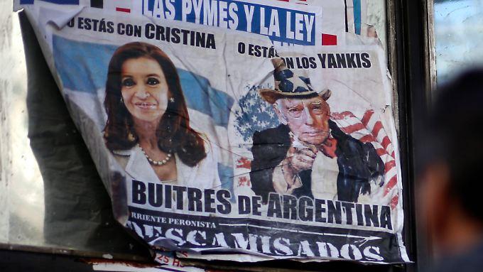 """Die Forderungen der als """"Buitres de Argentinia"""" (Argentiniens """"Aasgeier"""") bezeichneten Hedgefonds aus den USA haben nach US-Recht Vorrang vor den Ansprüchen anderer Gläubiger."""