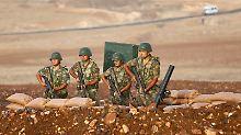 Türkische Soldaten im Einsatz an der Grenze zu Syrien.