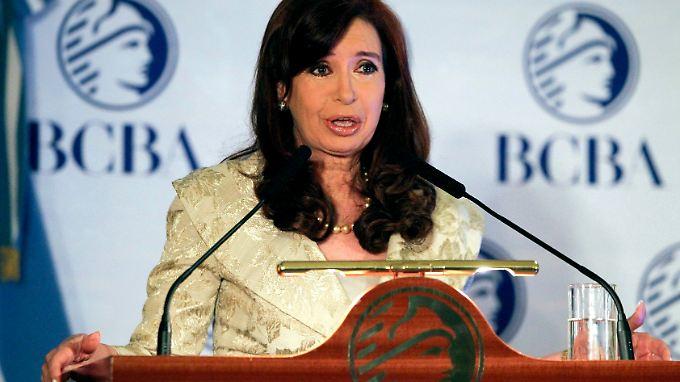 Argentiniens Präsidentin Cristina Fernández de Kirchner hatte immer wieder gegen die Praktiken der Hedgefonds gewettert.