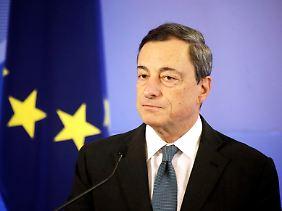 Mario Draghi nimmt am Donnerstag zum weiteren EZB-Vorgehen Stellung.