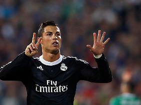 Reals Superstar Cristiano Ronaldo nutzte zwei Elfmeter zu einem Tor gegen Ludogorets.