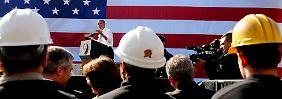 Gute Nachricht für Präsident Barack Obama: In den USA gibt es mehr Jobs.