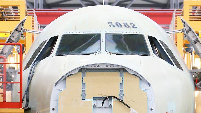 Bei der Produktion hinkt Airbus Boeing hinterher, bei den Bestellungen nicht.