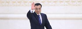 Chinas Regierungschef Li Keqiang muss mit dauerhaft weniger Wachstum rechnen.