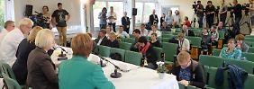 Bei Pressekonferenz im Klinikum St. Georg in Leipzig.