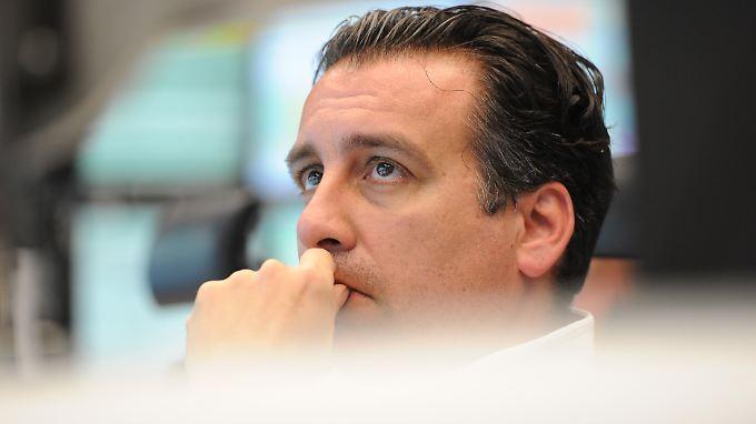 Mit Sorgen verfolgten heute Händler den Absturz des deutschen Leitindex.
