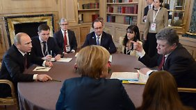 Wege aus der Ukraine-Krise: Spitzentreffen mit Putin bringt keinen Durchbruch