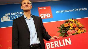 """Ich bin ganz platt"": Michael Müller beerbt Klaus Wowereit"