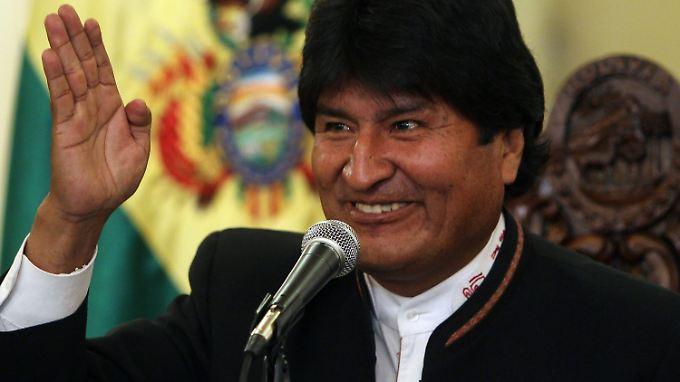 Läuft gut in Bolivien: Evo Morales freut sich über hohes Wirtschaftswachstum.