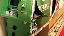 """""""Die Sanktionen wirken"""": Geldautomat in Duma zerstört"""