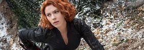 Auch Black Widow (Scarlett Johansson) bekommt es im Film mit der künstlichen Intelligenz Ultron zu tun.