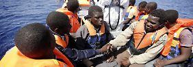 """Durchschnittlich wurden durch """"Mare Nostrum"""" 400 Menschen pro Tag gerettet."""