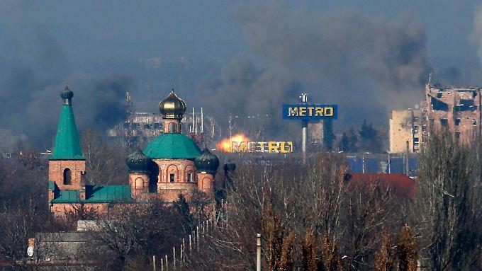 Auch am Flughafen von Donezk wurde wieder gekämpft.
