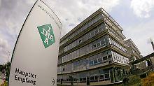 Blick auf den Eingang des Hauptsitzes der Schaeffler KG in Herzogenaurach.