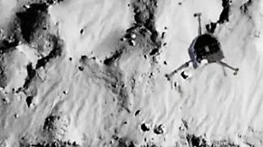 """Gleich dreimal gelandet: """"Philae"""" meldet sich vom Kometen"""