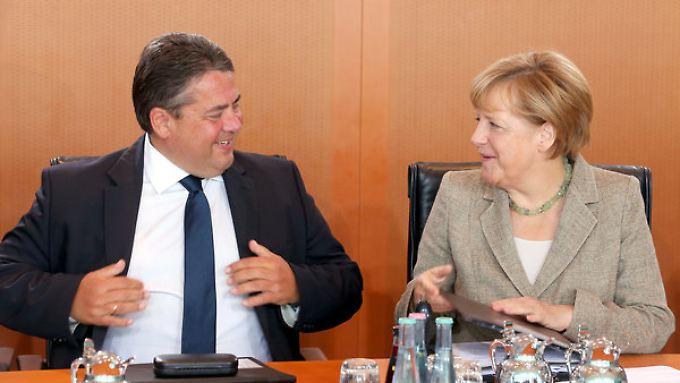 Bundeswirtschaftsminister Sigmar Gabriel und Bundeskanzlerin Angela Merkel.