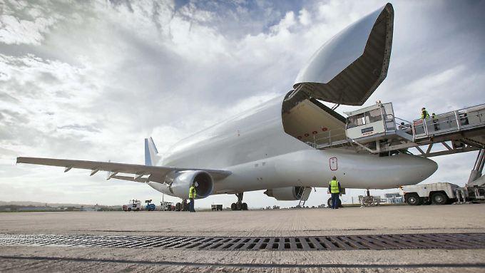 Seit 20 Jahren fliegen die Belugas Airbus-Teile durch Europa.
