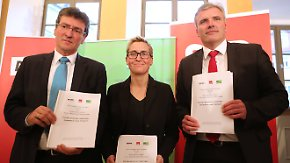 Rot-rot-grüner Koalitionsvertrag: Thüringer Linke macht Zugeständnisse