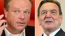Gerhard Schröder (2.v.r.), Ronald Pofalla (r), Dirk Niebel (2.v.l.), Daniel Bahr (l): Der Wechsel von Spitzenpolitikern in die Wirtschaft sorgt regelmäßig für Kritik.
