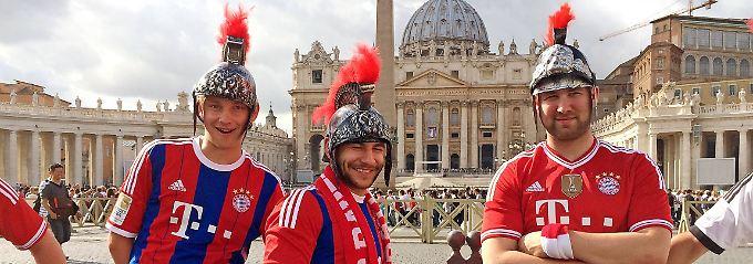 Überall, auch in Rom: Fans des FC Bayern. Ob sie auch Mitglieder sind?